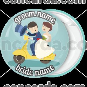 Κονκάρδα γάμου Vespa couple