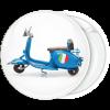 Κονκάρδα βέσπα μπλε Roma πλαϊνή όψη