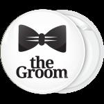 Κονκάρδα γάμου Groom bow tie λευκή