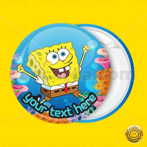 b3ef8b3d0a4 Sponge Bob dancing under sea badge button