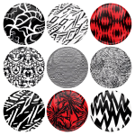 Σετ κονκάρδες patterns Twenty One Pilots
