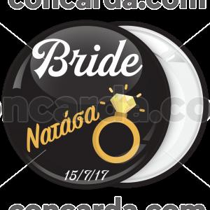 Kονκάρδα bachelorette The Bride Ring μαύρη