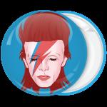Κονκάρδα David Bowie πρόσωπο αστραπή