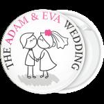 Κονκάρδα γάμου για το ζευγάρι cartoon style