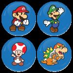 Σετ 4 κονκάρδες super mario heroes