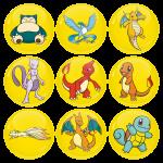 Κονκάρδες σετ 9 τεμαχίων Pokemon Snorlax and friends Collection