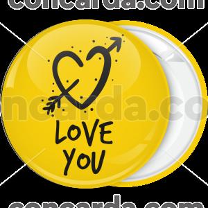 Κονκάρδα Αγίου Βαλαντίνου Love you κίτρινη