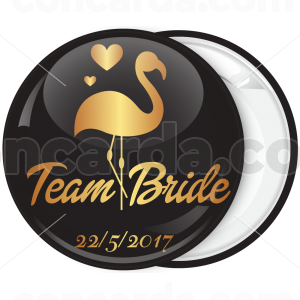 Kονκάρδα bachelorette Team Bride φλαμίνγκο χρυσή κολεξιόν