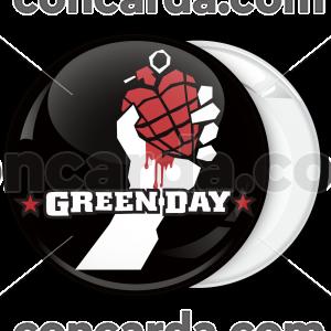 Ροκ Κονκάρδα Green Day μαύρη