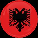 Κονκάρδα σημαία Αλβανίας