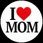 Κονκάρδα I Love Mom άσπρη
