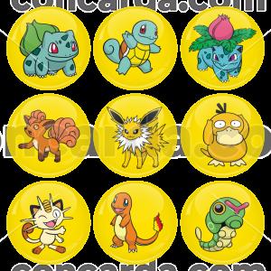 Κονκάρδες σετ 9 τεμαχίων Pokemon Bulbasaur and friends Collection