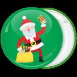 Χριστουγεννιάτικη κονκάρδα χαρούμενος Άγιος Βασίλης