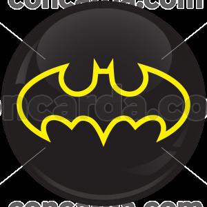 Κονκάρδα Batman logo μαύρο