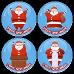 Χριστουγεννιάτικες κονκάρδες fat Santa Claus 4 τεμάχια