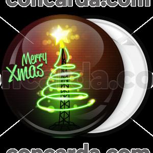 Κονκάρδα Merry Xmas neon Christmas tree