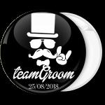 Κονκάρδα Team Groom Hat Hand rock μαύρη