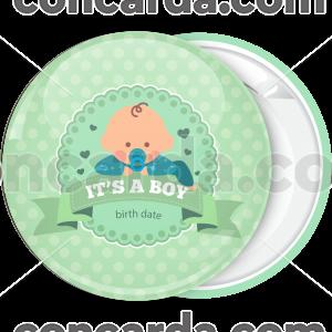 Κονκάρδα για γέννηση it is a boy πράσινη