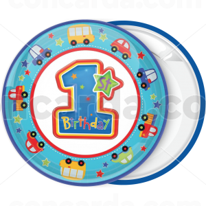 Κονκάρδα 1st Birthday round cars