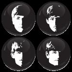 Σετ κονκάρδες The Beatles faces 4 τεμάχια