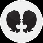 Κονκάρδα Ζώδια Δίδυμοι white collection