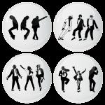 Κονκάρδες Michael Jackson σετ 4 τεμάχιων
