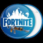 Κονκάρδα Fortnite λογότυπο και όπλο μπλε