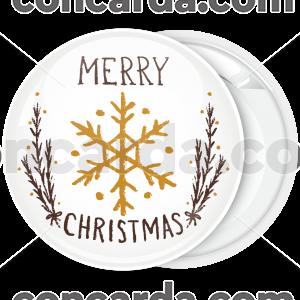Κονκάρδα Merry Christmas snowflake