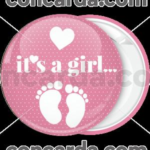 Κονκάρδα baby shower κορίτσι πατουσάκια