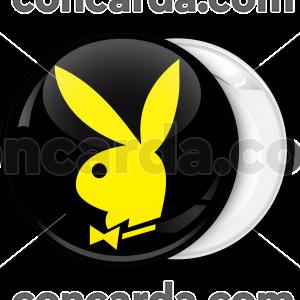 Κονκάρδα Playboy μαύρη