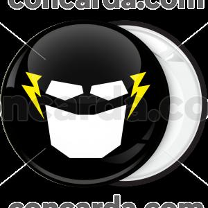 Κονκάρδα μάσκα Flash μαύρη