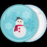 Χριστουγεννιάτικη κονκάρδα gentleman snowman in the snow