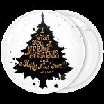 Κονκάρδα Χριστουγέννων black Christmas Tree with wishes