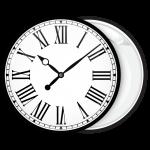 Κονκάρδα ρολόι λευκό