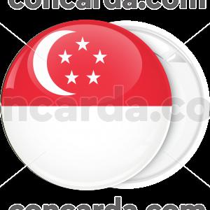 Κονκάρδα σημαία Σιγκαπούρης