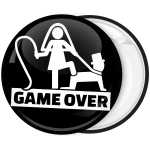 Κονκάρδα για bachelor Game Over μαύρη BACK
