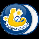Κονκάρδα I got vaccinated μπλε