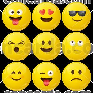 Κονκάρδες emoticons avatar collection caramel 9 τεμάχια