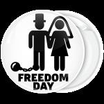 Κονκάρδα για bachelor Freedom Day λευκή