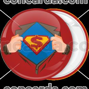 Κονκάρδα Superman dollar κόκκινη