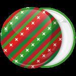 Κονκάρδα Χριστουγεννιάτικη μπάλα γιορτινά χρώματα και αστέρια