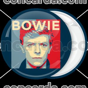 Κονκάρδα David Bowie τετράγωνο πρόσωπο
