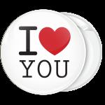 Κλασσική κονκάρδα I Love You λευκή