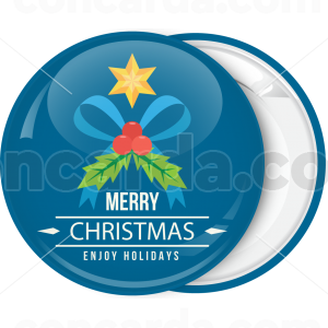 Χριστουγεννιάτικη κονκάρδα Enjoy Holidays Xmas leaf