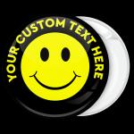 Κονκάρδα κίτρινο Smiley με κείμενο περιμετρικά