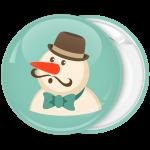 Χριστουγεννιάτικη κονκάρδα gentleman snowman