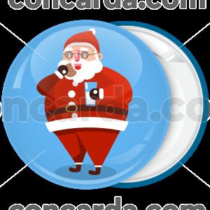 Χριστουγεννιάτικη κονκάρδα Santa eats cookie