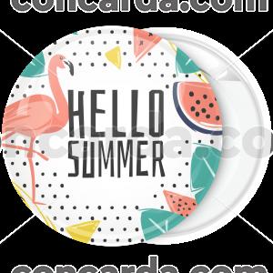 Καλοκαιρινή κονκάρδα Hello Summer φλαμίνγκο
