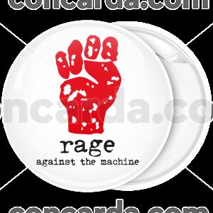 Κονκάρδα Rage Against the Machine λευκή