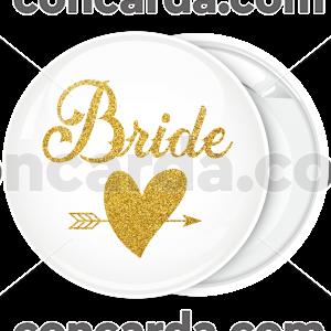 Kονκάρδα Bride Gold Glitter λευκή